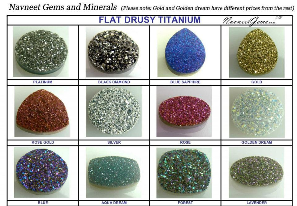 Drusy Quartz Color Chart