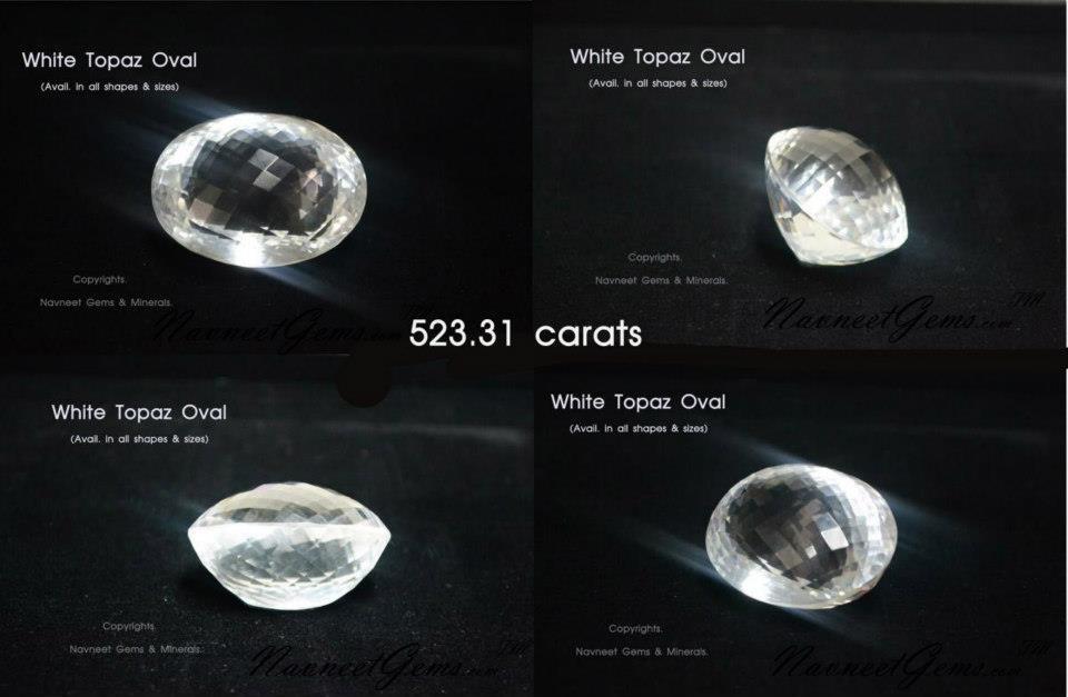 White Topaz Ovals