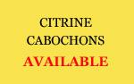 Citrine cabochons