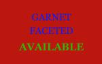 Garnet Faceted
