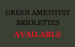 Green Amethyst Briolettes