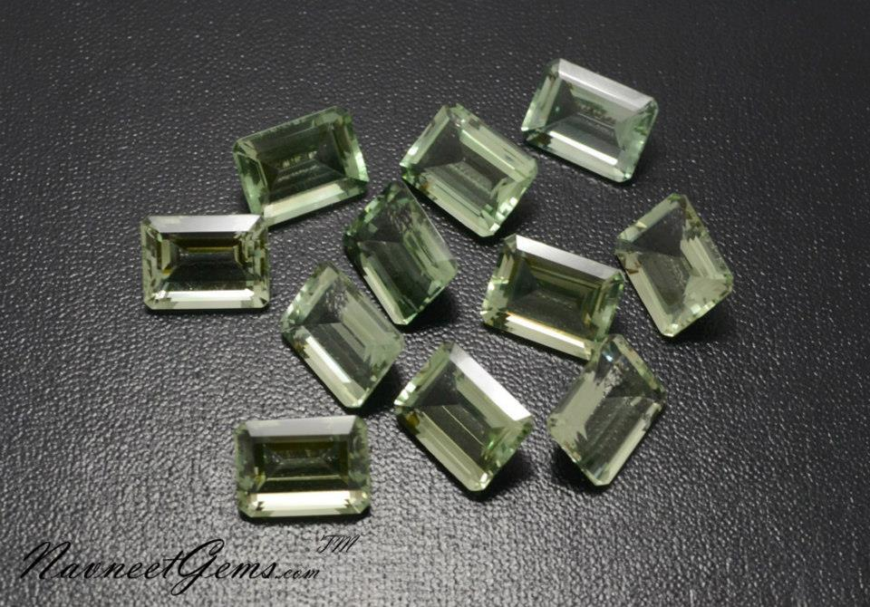 Green Amethyst Octagons
