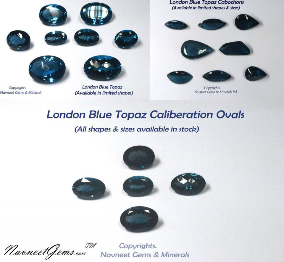 London Blue Topaz Ovals