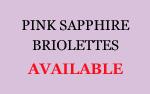 Pink Sapphire Briolettes
