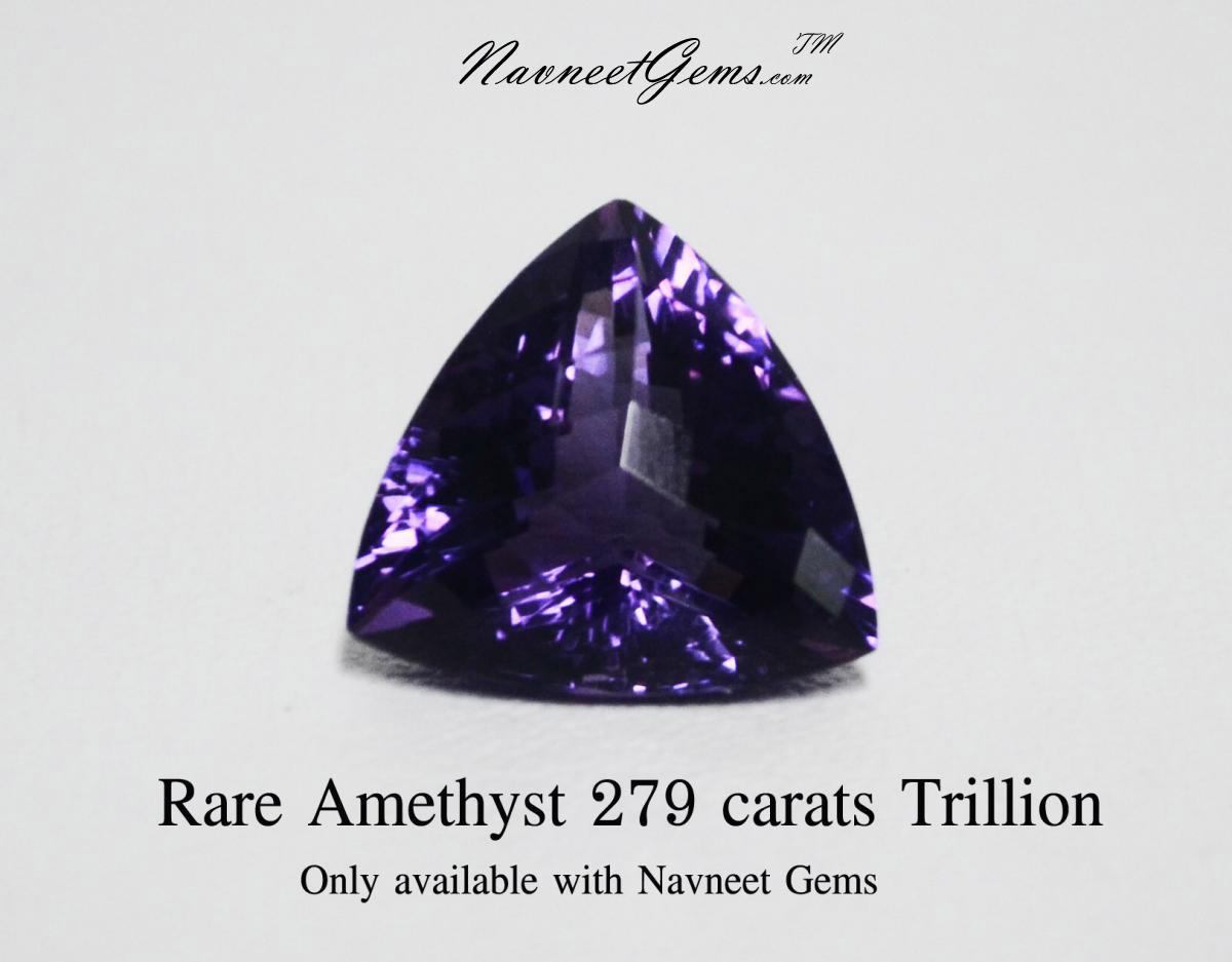 Rare Amethyst Trillion