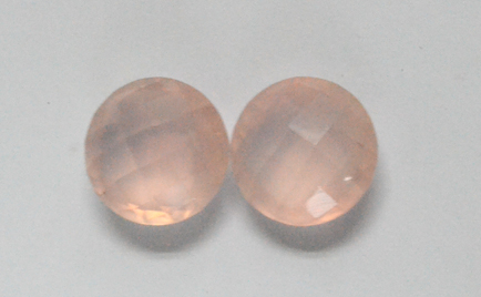 Rose Quartz Round Checker Bord