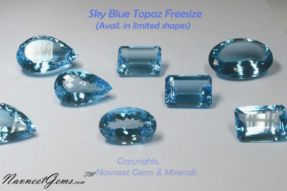 Sky Topaz Gemstones