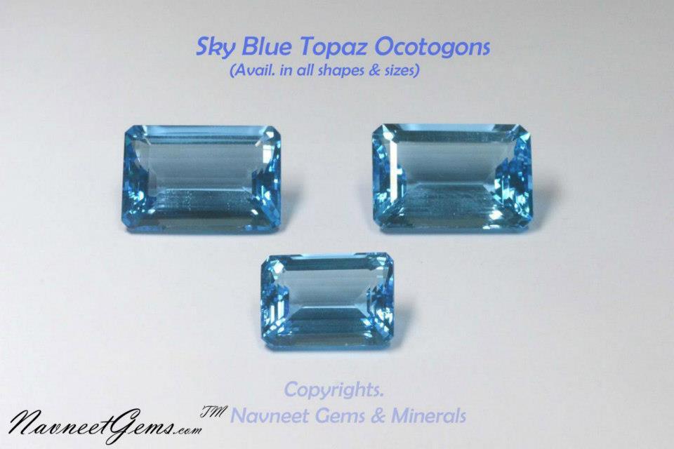 Sky Topaz Octagon