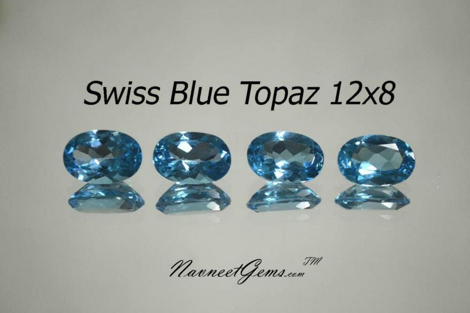 Swiss Blue Topaz Ovals