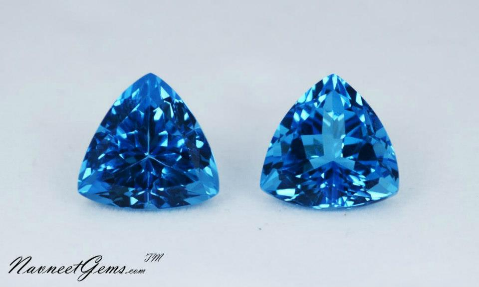 Swiss Blue Topaz Trillion