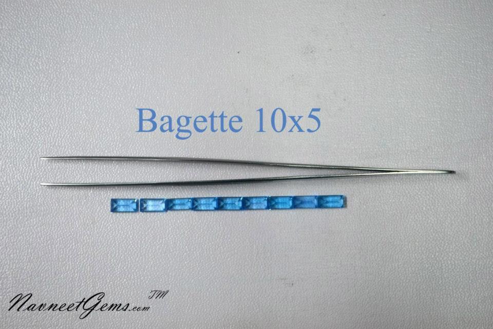 Swiss Blue topaz Bagette