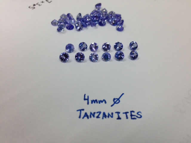Tanzanite Rounds Faceted