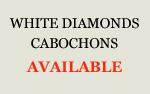 White Diamonds Cabochons