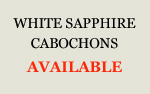 White Sapphire Cabochons