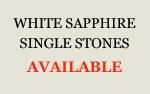 White Sapphire Single Stones