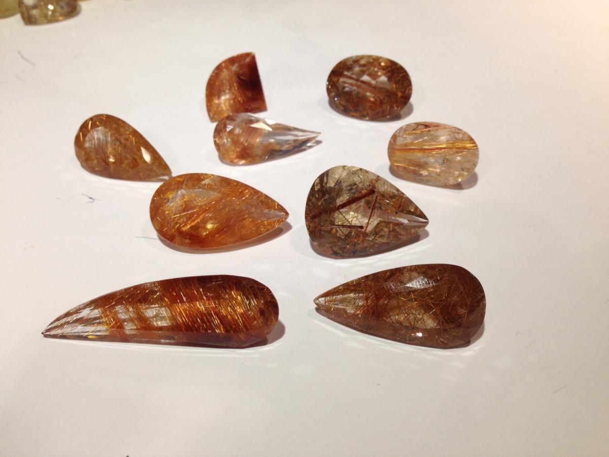 faceted rutilw quartz