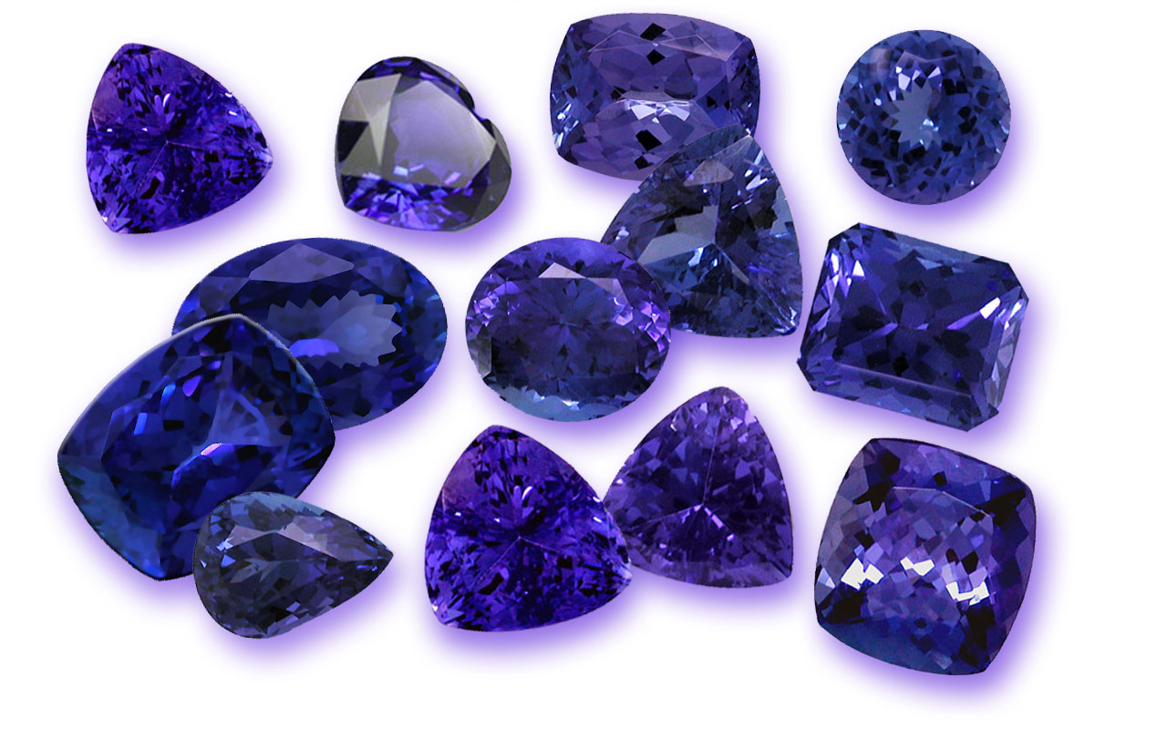 round for blue gems sale cz color china diamond tanzanite zirconia gemstones cubic loose cut