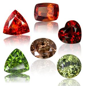 Garnet loose stones