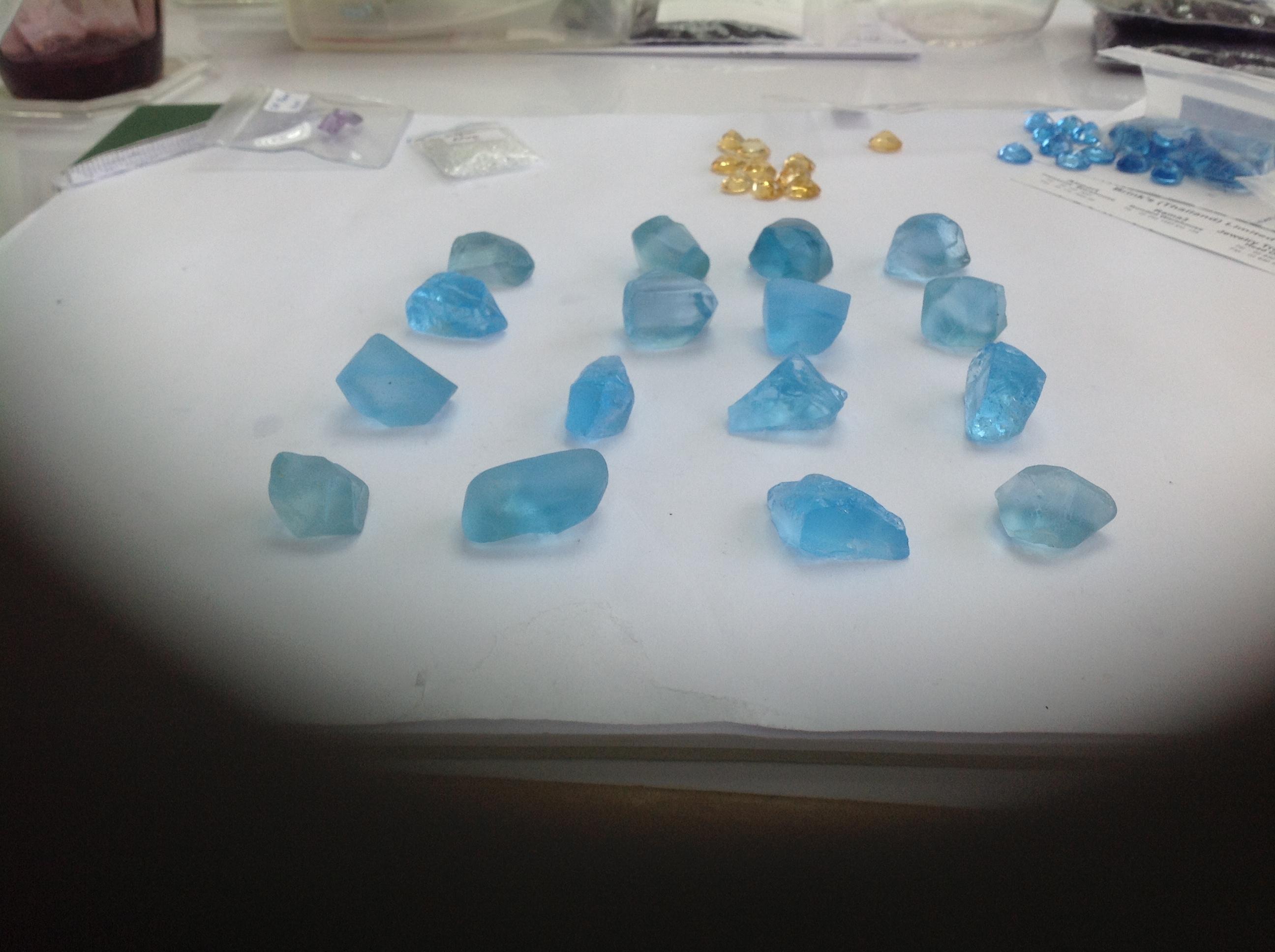 Swiss blue topaz rounds